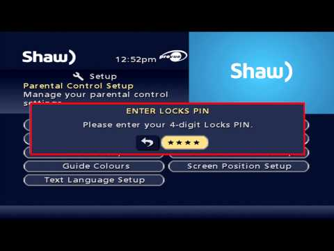 Classic Guide - Parental Controls | Support & How To | Shaw