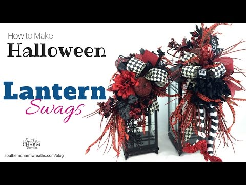 How to make Halloween Lantern Swags