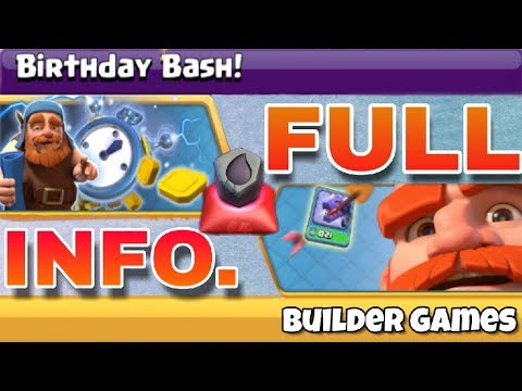 Builder hall Anniversary 2018 ( Birthday bash ) new Coc events | next update of coc