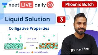 NEET: Liquid Solution - L3 | Phoenix Batch | Live Daily 2.0 | Unacademy NEET | Deepak Vashishtha