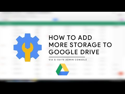 How to Add Extra Storage to Google Drive via G-suite Admin Console