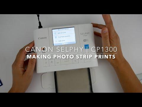 canon selphy | cp1300 | making photo strip prints