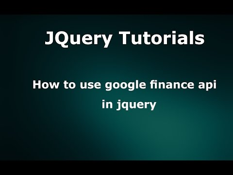 How to use google finance api in jquery