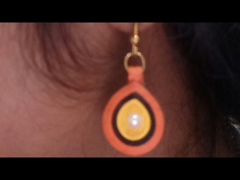 Quilling earrings/ How to make Simple & Easy dangle earring/ Dangle earring
