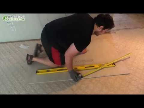 How to Cut Cement Board (HARDIE Backer Board) for Tile - DIY