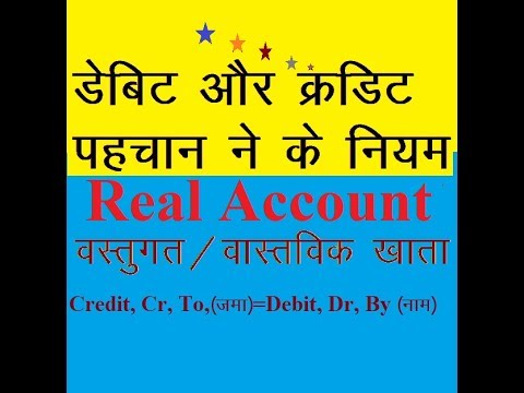 RULES OF ACCOUNTS Tutorial for all Class, Real Account, Golden Rules of Accounting,