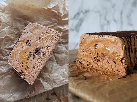 Caramel, Chocolate And Rum Parfait - No Machine Ice Cream - By One Kitchen