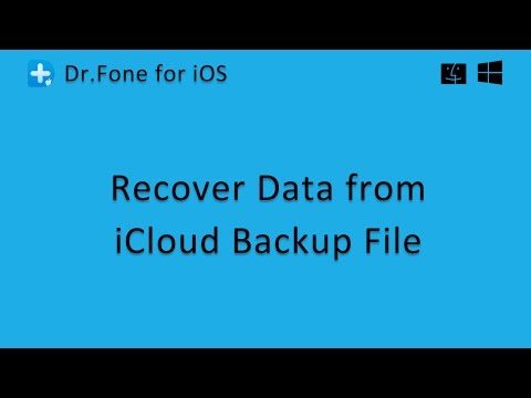 Dr.Fone - Recover Data from iCloud Backup File