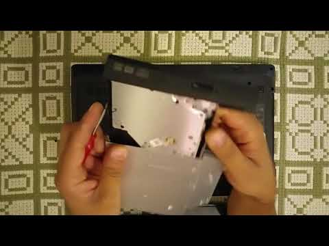 Lenovo G570 - Replace Laptop DVD Optical Drive - How to replace DVD