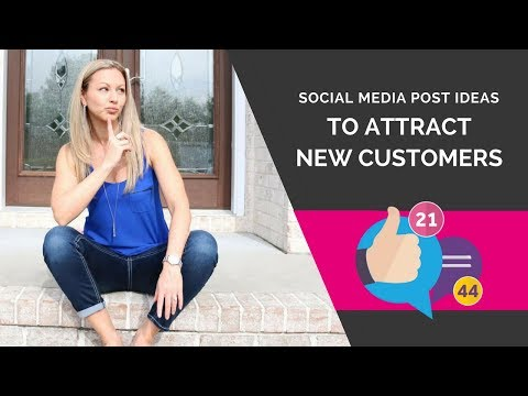 Social Media Marketing - 25 Facebook Post Ideas to Attract More Customers & Sales For Your Business