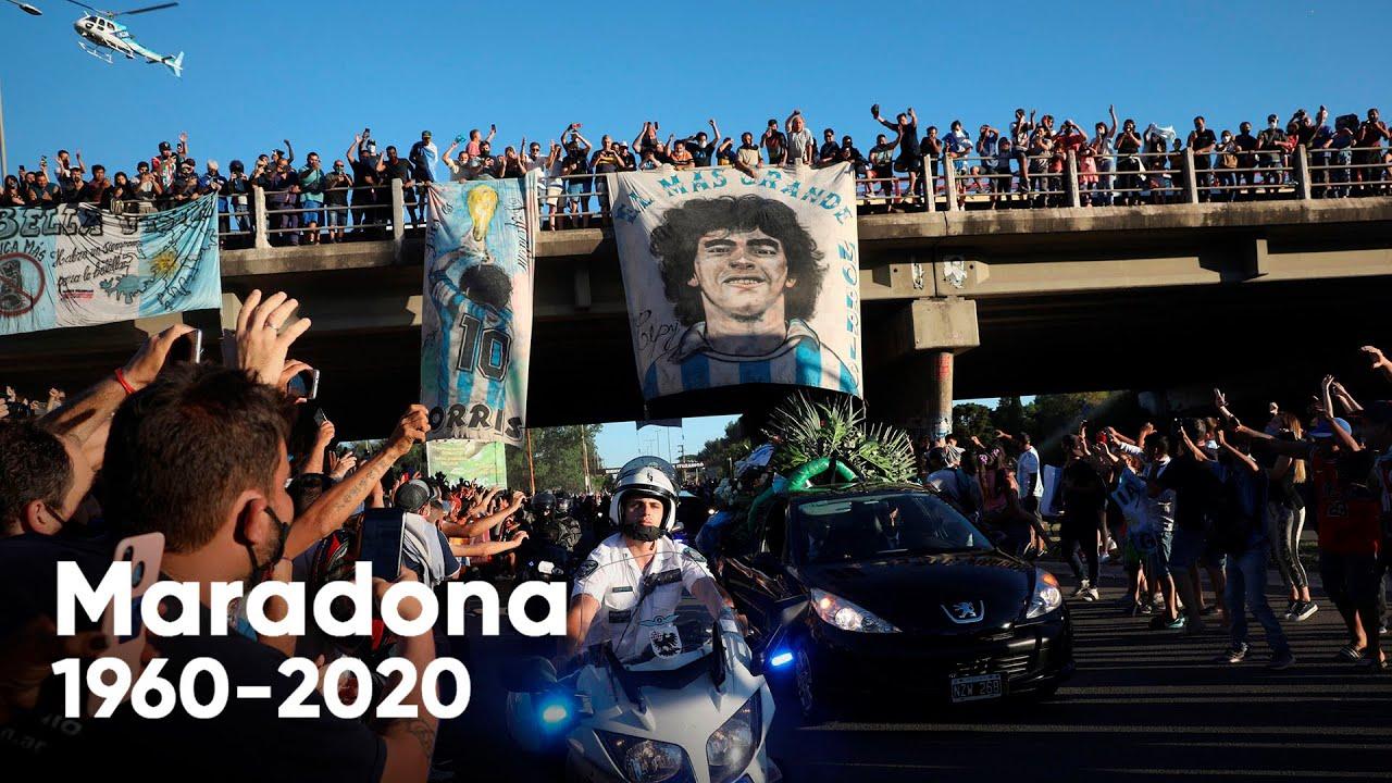 El último viaje de Maradona rumbo a la eternidad: una caravana lo  acompañó al cementerio