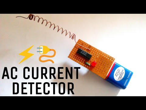 AC Current Detector | Touch less using only one IC | CD4060