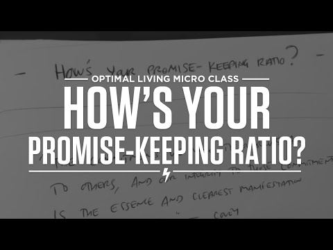 How's Your Promise-Keeping Ratio?