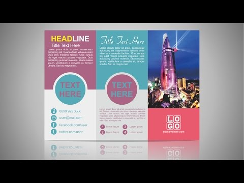 3 Fold Brochure Design   CorelDraw Tutorial