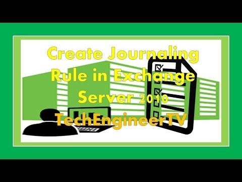 Create Journaling Rule in Exchange Server 2010