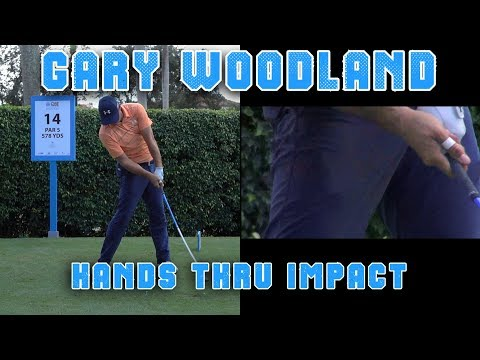 GARY WOODLAND 2017 / 2018 HANDS THRU IMPACT SLOW MOTION DRIVER GOLF SWING  1080 HD