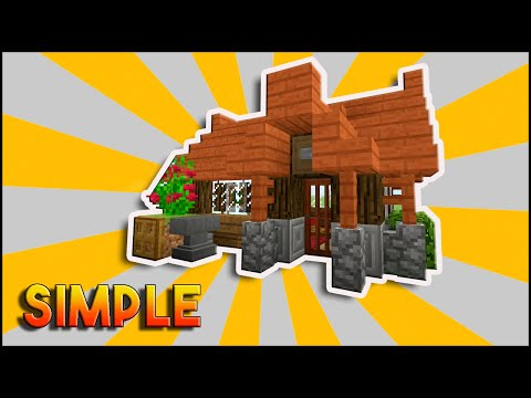 Minecraft: Simple, Easy, Efficient Survival House Tutorial | How To Make A Small Survival House