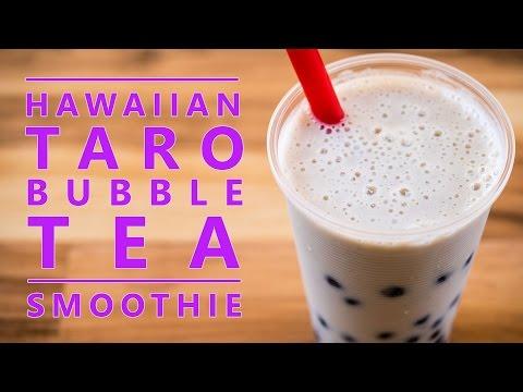 How to Make an Organic Hawaiian Taro Boba Bubble Tea Smoothie Drink by Bubble Tea Supply