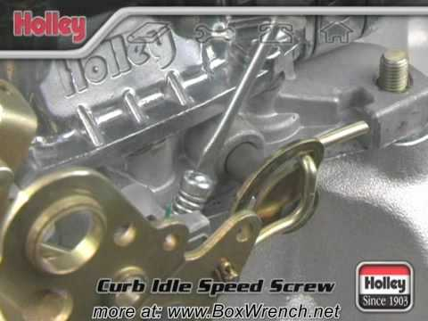 Setting Curb Idle Speed of Carburetor Video -Holley Carb DVD