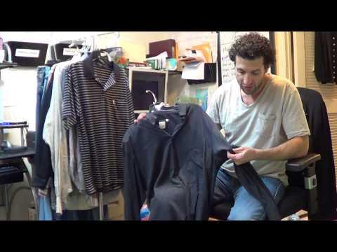y3159 Giorgio Armani Black Label Mens 100% Rayon Dark Gray Dress Shirt Sz. 41/16