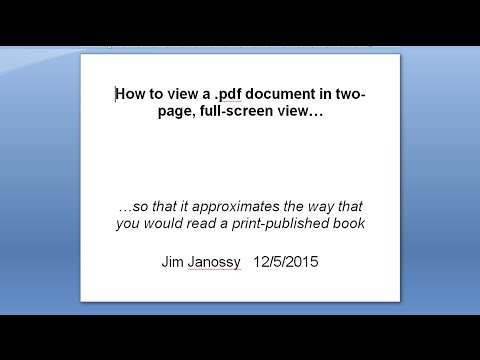 How to read a .pdf like a book with facing pages