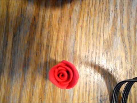 How to make a rose out of clay