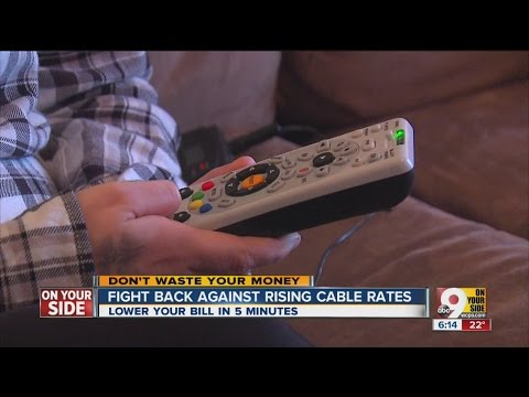 Lower your cable TV bill in just 5 minutes