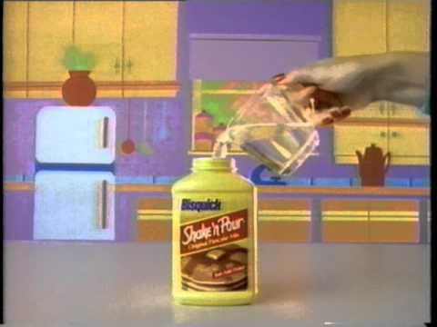 Bisquick Shake 'n Pour Pancake Mix Commercial (1989)