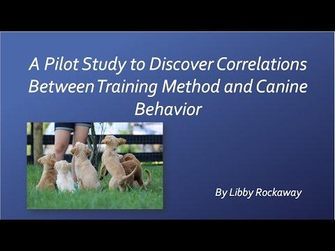 Presentation of 2016 Pilot Study - Training Method and Canine Behavior