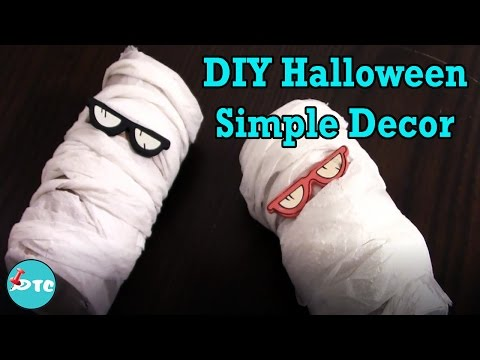 How to make simple Halloween DIY paper decorations