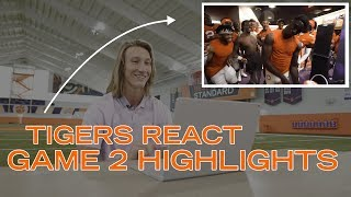 Clemson Football    🐅 Tigers React to Game 2 Highlights
