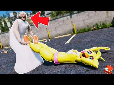 GRANNY HAS CAPTURED ALL THE ANIMATRONICS! (GTA 5 Mods For Kids FNAF RedHatter)