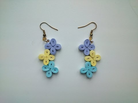 Quilling Earrings Tutorial:  How to make simple Quilling Earrings - Paper Quilling Art