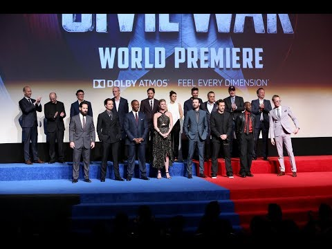 CAPTAIN AMERICA CIVIL WAR World Premiere Red Carpet