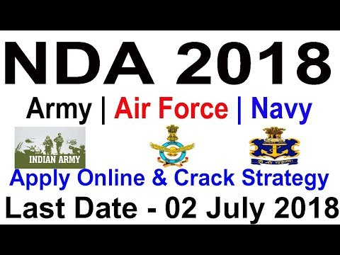 Join Air Force, Indian Navy, Army NDA II Exam 2018 Full Guide & Crack Strategy for NDA UPSC