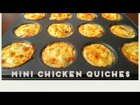 Mini Chicken Quiches - back to school kids lunch box - By Mind Blowing Cooking