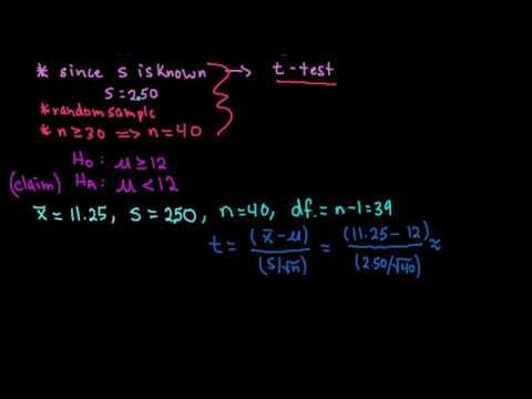 t-Test Using P-Value-TI-84