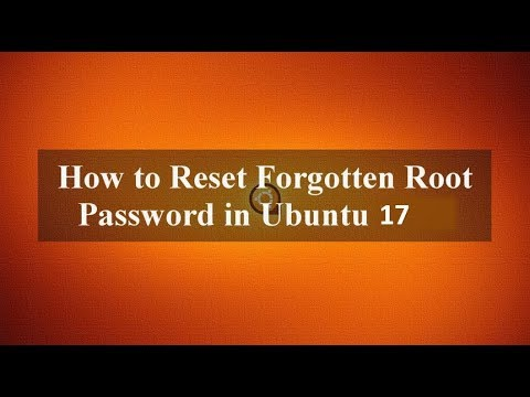 How to Change Forgotten Root Password in Ubuntu 17.0 Using Grub Terminal