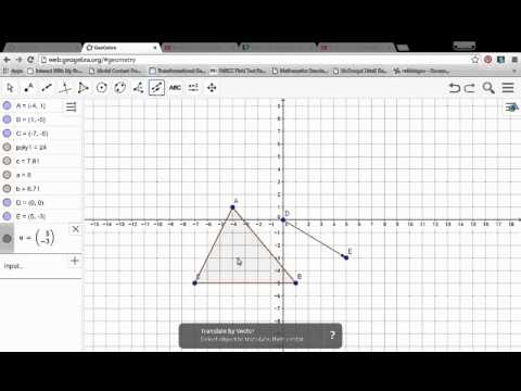 Translations using Geogebra