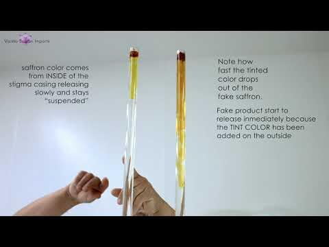 Experiment to detect Fake Saffron