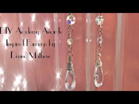 Academy Awards Inspired Dangle Crystal Earrings by Denise Mathew