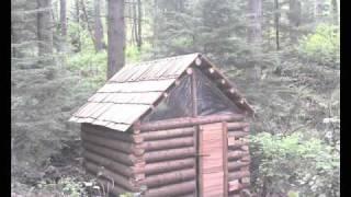 owner built log cabin