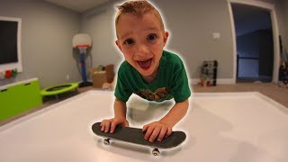 6 YEAR OLD LEARNS TO HANDBOARD!