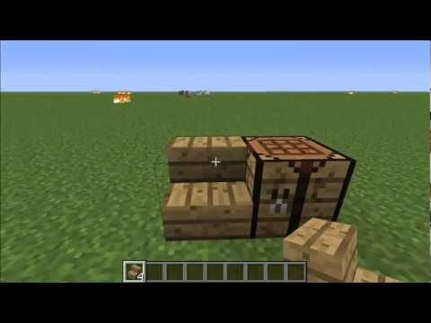 How to Make Wood Stairs in Minecraft