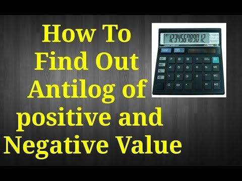 How to find Antilog with the help of simple Calculator in hindi