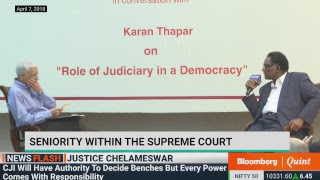 Justice Chelameswar  On 'Role Of Judiciary In A Democracy' At Harvard Club Of India