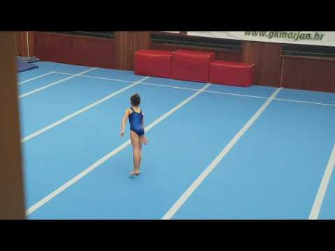 Rua Melek Basic Floor Routine Gymnastics Competition Sveti Duje Split