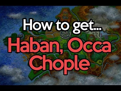 How to get Haban, Occa, Chople Berry Pokemon X and Y