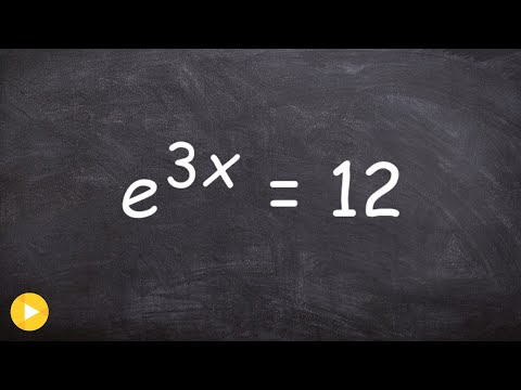How do you solve an exponential equation with e as the base