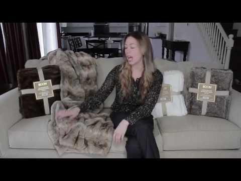 af4bbcd3c5f BOON Throw   Blanket Luxury Faux Fur - Polar Bear